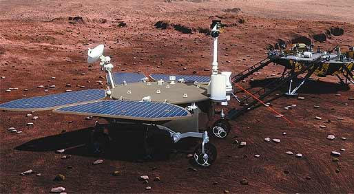 """火星你好! 中国""""火星车""""首次露脸"""