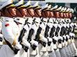 中国人民解放军三军仪仗队亮相巴国庆阅兵彩排