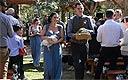 澳夫妇自家谷仓办婚礼 新娘骑驴伴娘抱鸡