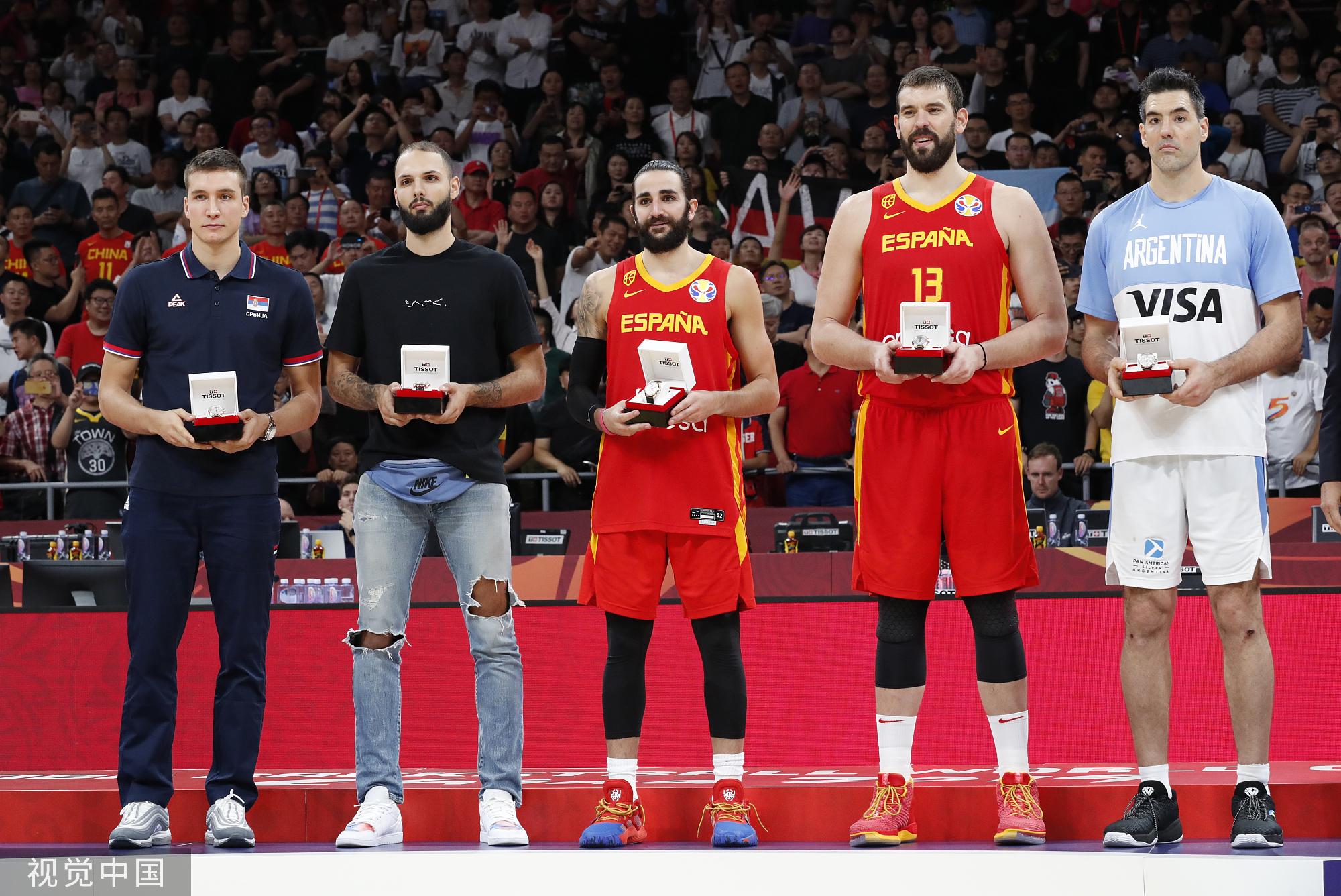 2019篮球世界杯最佳阵容:斯科拉入选西班牙两将