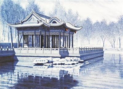 山西小伙用圓珠筆畫3D古建筑走紅 一幅畫賣幾萬塊