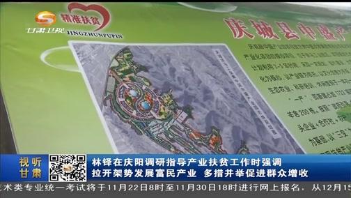 [甘肃新闻]林铎在庆阳调研指导产业扶贫工作时强调 拉开架势发展富民产业 多措并举促进群众增收