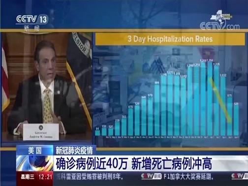 [新闻30分]美国 新冠肺炎疫情 确诊病例近40万 新增死亡病例冲高