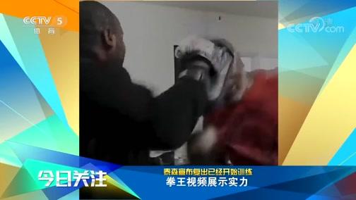 [拳击]拳王泰森宣布复出 已经开始训练