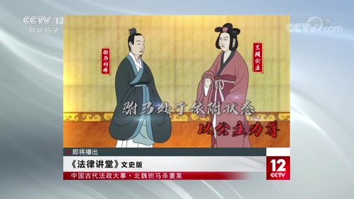 《法律讲堂(文史版)》 20200716 中国古代法政大事·北魏驸马杀妻案