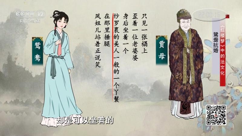《法律讲堂(文史版)》 20210820 《红楼梦》中的法文化·鸳鸯抗婚