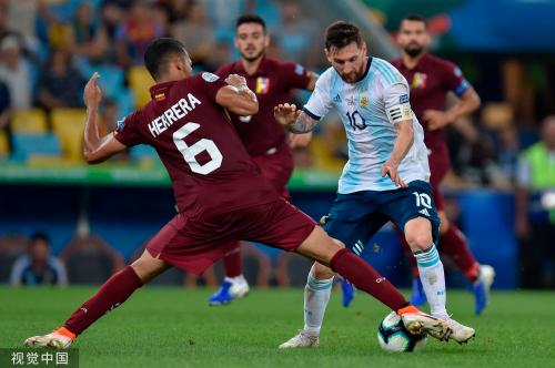 [高清组图]美洲杯-国米前锋破门 阿根廷2-0晋级