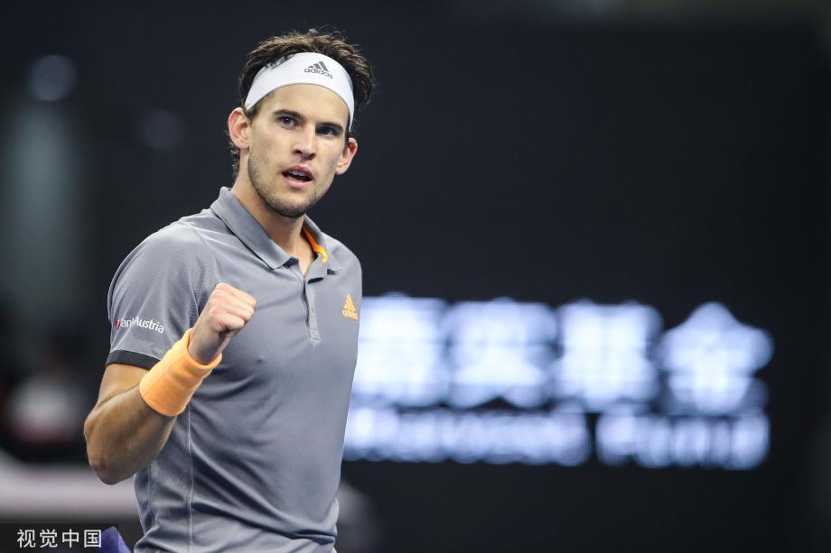 [图]中网蒂姆强势逆转西西帕斯 夺得赛季第4冠