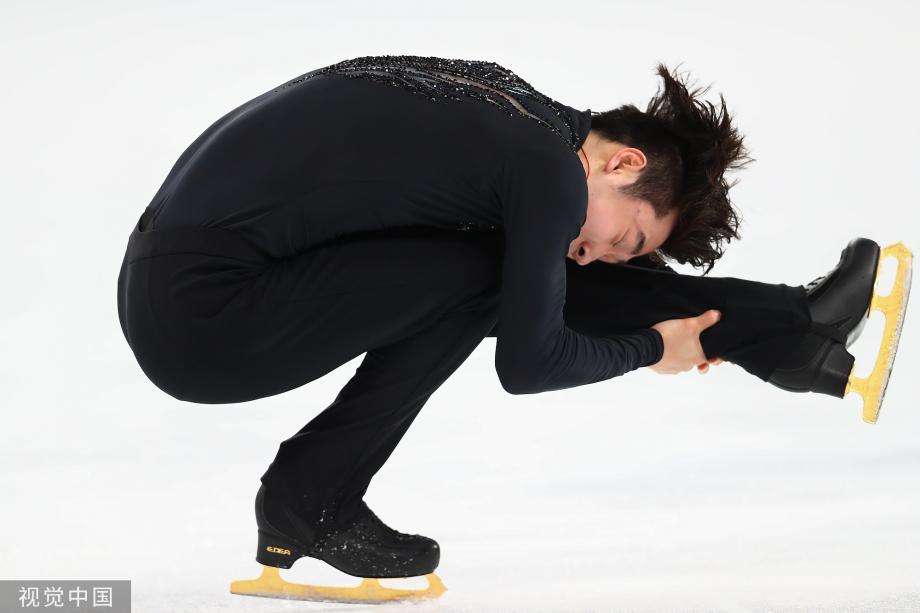 [图]动作难度有优势 花滑中国杯金博洋男单夺冠