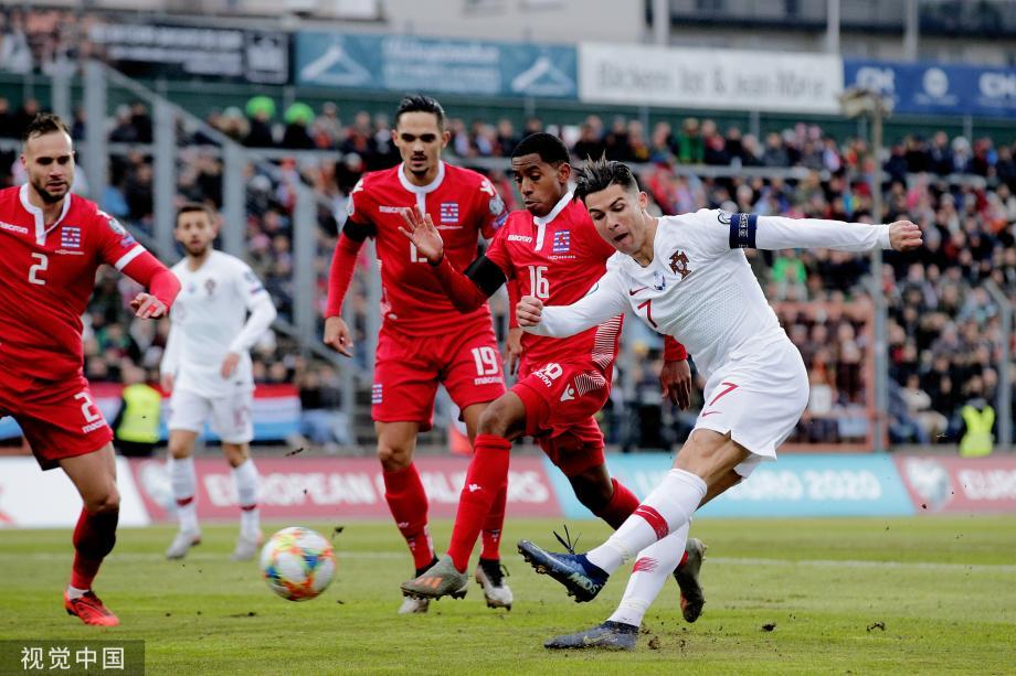 [图]欧预赛-C罗斩国家队99球 葡萄牙2-0卢森堡晋级