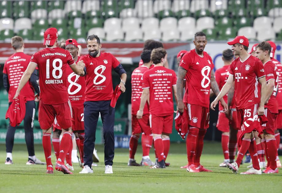 德甲-莱万制胜球 拜仁1-0提前两轮加冕8连冠