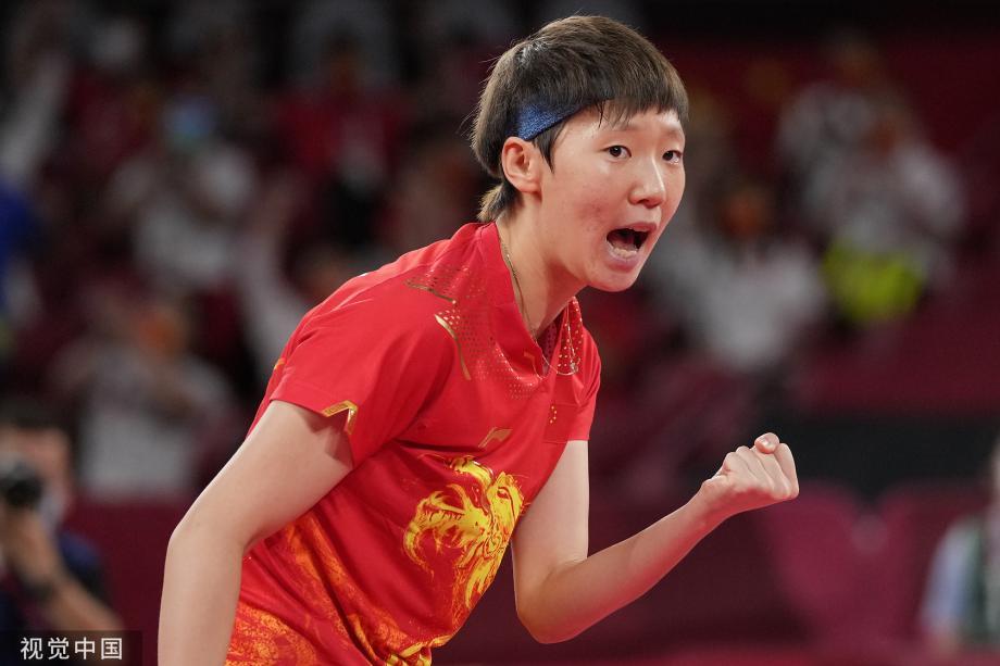 [图]第34金!中国女乒3比0横扫日本队获得团体冠军