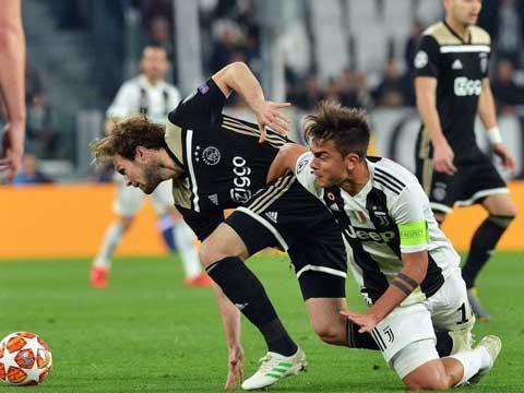 [欧冠]1/4决赛次回合:尤文1-2阿贾克斯 比赛集锦