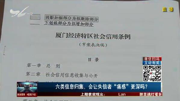 """六类信息归集,会让失信者""""痛感""""更深吗? TV透 2019.04.29 - 厦门电视台 00:24:59"""