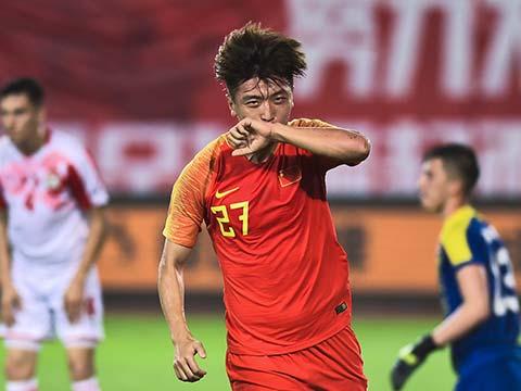 [国足]国际足球友谊赛:中国VS塔吉克斯坦 上半场