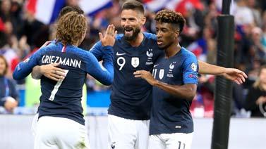 [图]格子失点 吉鲁破门拜仁飞翼2球 法国4-1