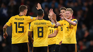 [图]卢卡库传射德布劳内造4球 比利时4-0大胜