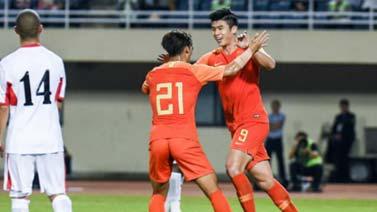 [国足]中国之队U22锦标赛:中国2-0约旦 比赛集锦
