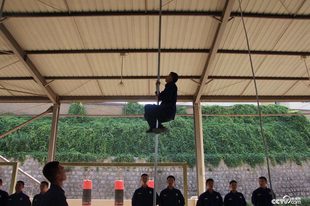 昆明市森林消防支队消防员在进行日常训练。(徐辉/摄)