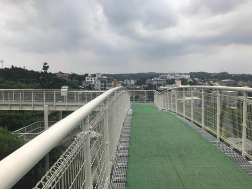 彰化市的天空步道,假日游客也不多。(图:台湾《联合报》/记者林宛谕 摄)