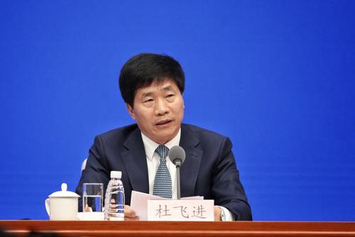 北京市委常委、宣传部长杜飞进(李夏/摄)