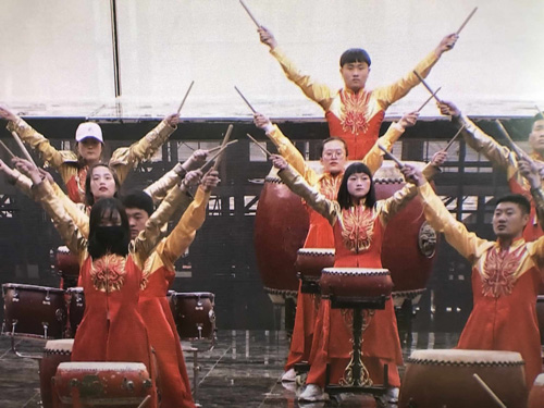 Rehearsal of the Asian Culture Carnival.