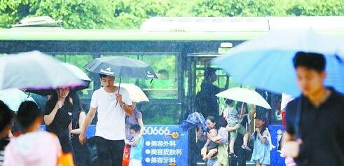 昨日天气闷热,傍晚的阵雨带来了一丝清凉。