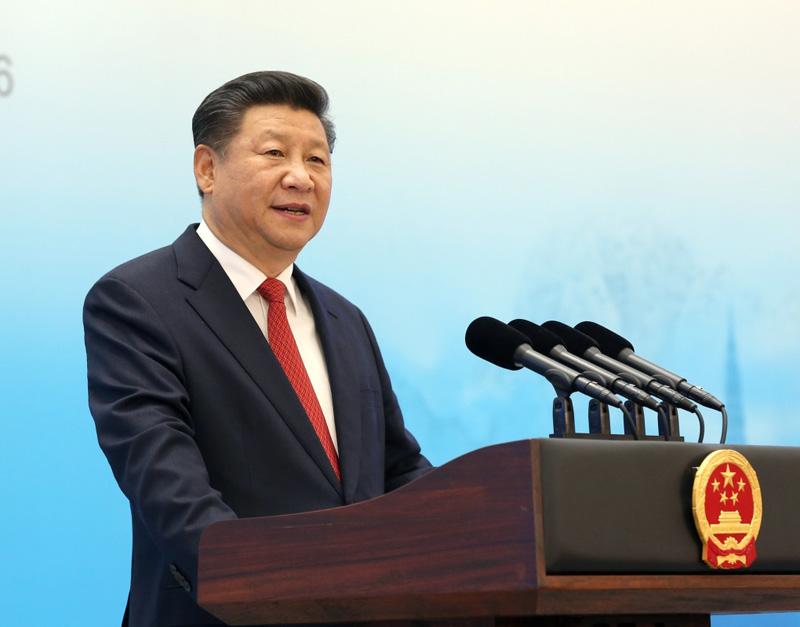 2016年9月3日,习近平在杭州出席2016年二十国集团工商峰会开幕式,并发表题为《中国发展新起点 全球增长新蓝图》的主旨演讲。