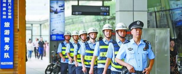 湖里派出所驻点民警强化日常巡逻。