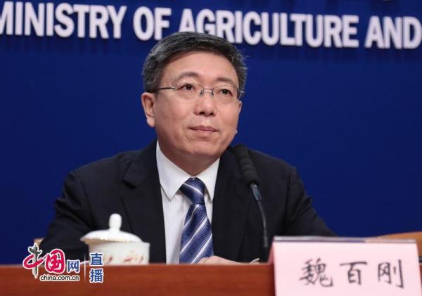农业农村部发展规划司司长魏百刚在农业农村部新闻办公室举行的新闻发布会。  中国网 图