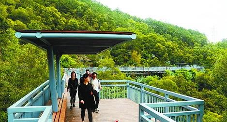 健康步道项目建设,也是创建生态园林城市工作之一
