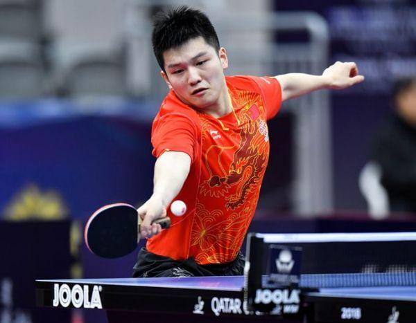 樊振东在比赛中(资料图)。据新华社