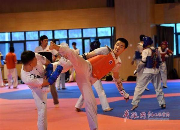 2019年7月,八一跆拳道队在青岛市体校进行为期5周的集训,备战军运会 图源:青岛日报