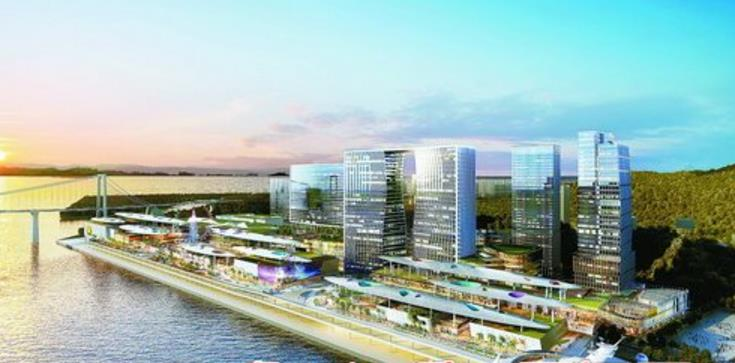 """厦门""""海上世界""""由招商蛇口和厦门港务联手打造,将成为港城融合、产城融合发展的典范和标杆。图为厦门""""海上世界""""效果图。(招商蛇口供图)"""