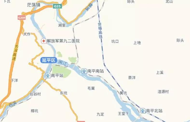 延平区车站示意图