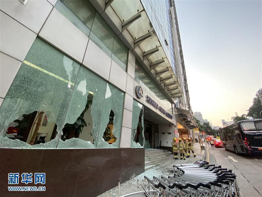 (新華網)(8)新華社亞太總分社辦公大樓遭暴徒打砸破壞