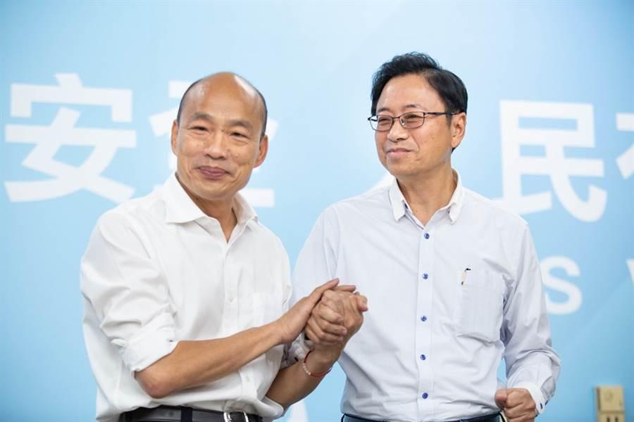 韩国瑜和副手张善政。