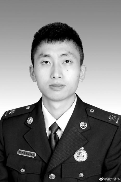 张伟杰。图片来源:福建省福州市消防救援支队官方微博。