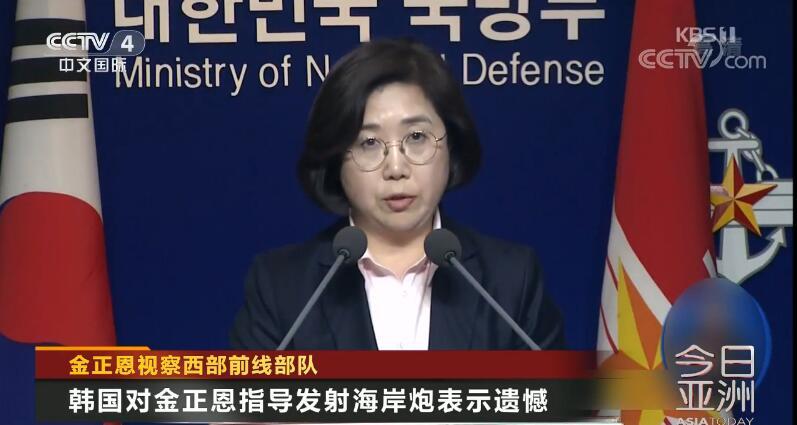 韩国国防部发言人崔贤洙(视频截图)