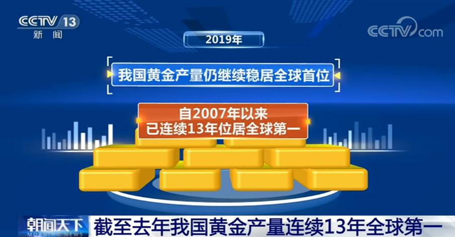 我国黄金产量连续13年全球第一 黄金消费量连续7年蝉联世界第一