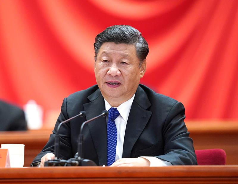 10月9日,纪念辛亥革命110周年大会在北京人民大会堂隆重举行。中共中央总书记、国家主席、中央军委主席习近平在大会上发表重要讲话。新华社记者 申宏 摄